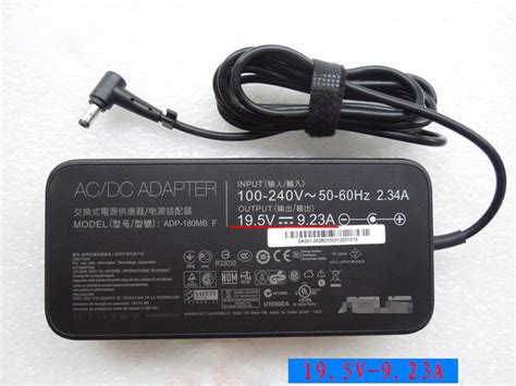 Adaptor Charger Laptop Asus Rog 19 5v 9 23a asus adp2d180mb f 19 5v 9 23a 180w genuine ac adapter