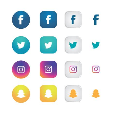 free sosial network icon social network icons collection vector free download