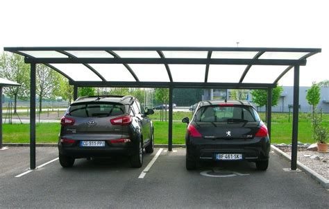 moderne terrasse 5177 carport abri 2 voitures cintr 233 en aluminium par jlc