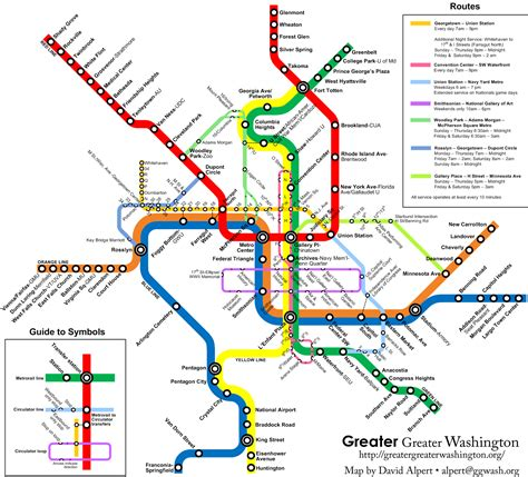 Bus Routes Map by Ggw Metro Map With Circulator Bus Routes Borderstan