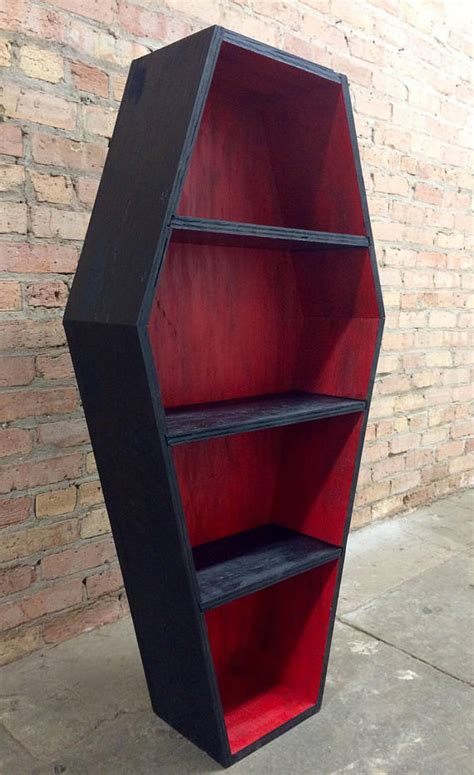new two tone coffin bookcase