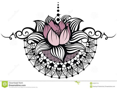 lotus tattoo vector lotus design stock vector image of abstract nature