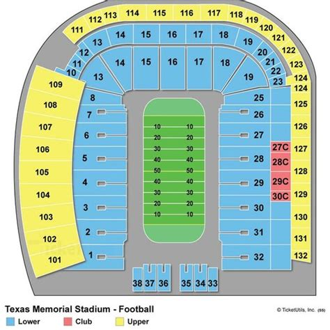 texas stadium seat map darrell k royal texas memorial stadium maplets