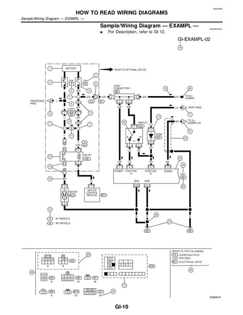 2001 nissan xterra wiring schematic wiring diagram with