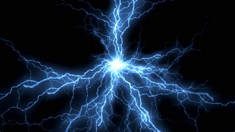 electric shock in blue green reflection electric shock stock footage