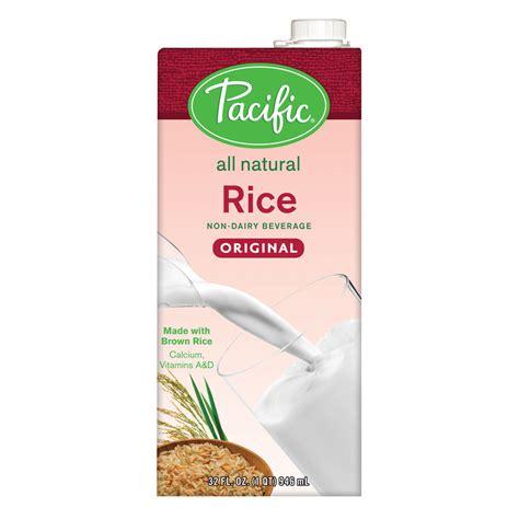 Rice Milk Shop pacific foods plain low rice milk quart s baristaproshop