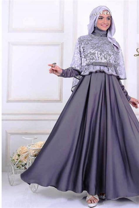 Melihat Baju Gamis Model Baju Gamis Kombinasi Brokat Terbaru Gambar Busana