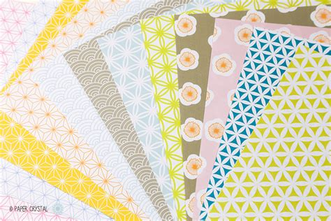 Free Craft Papers - 12 free printable origami papers paper kawaii