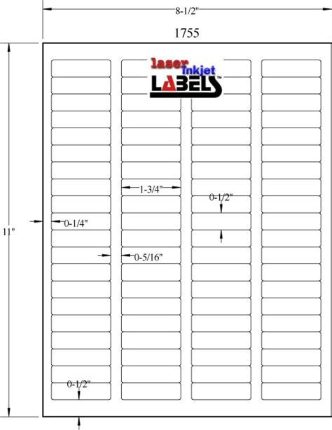 1 75 Quot X 5 Quot Removable White Labels Laser Inkjet Labels 2 X 3 5 Label Template