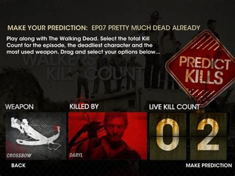 kill count this looks like the walking dead walkers kill count