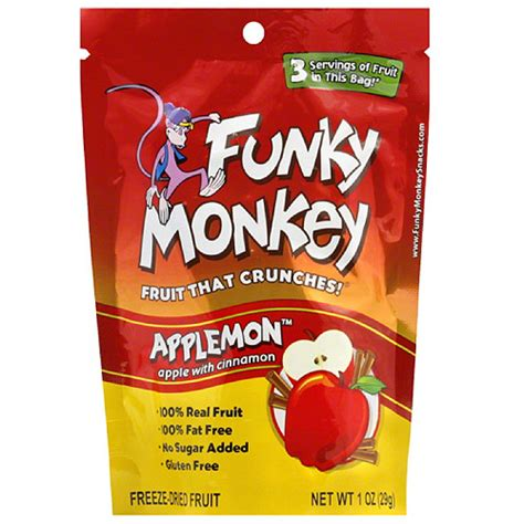 Dried Fruit Shelf by Funky Monkey Applemon Freeze Dried Fruit 1 Oz Pack Of
