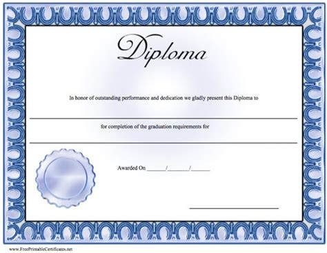 diploma free template printable preschool diplomas or certificates rice n three
