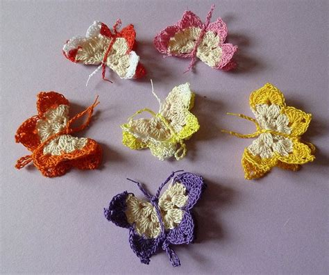 pin crochet butterfly pattern on pinterest anleitung f 252 r geh 228 kelte schmetterlinge h 228 keln