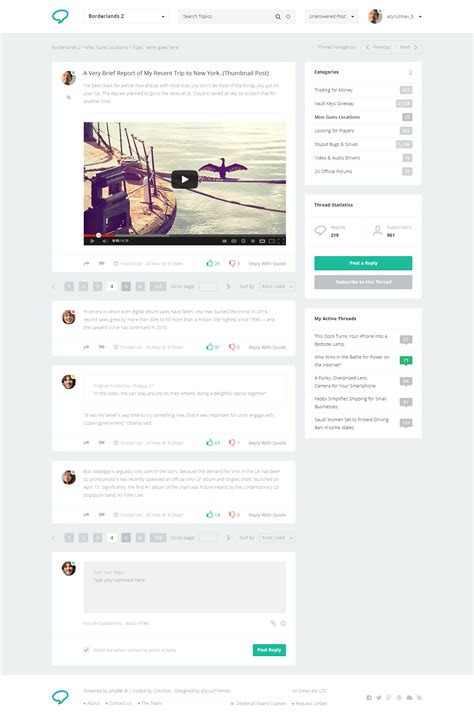 Forum Website Psd Template By Azyrusmax Themeforest Forum Website Template