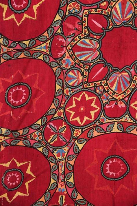 uzbek suzani embroidery uzbek suzani detail silk embroidered panel traditional