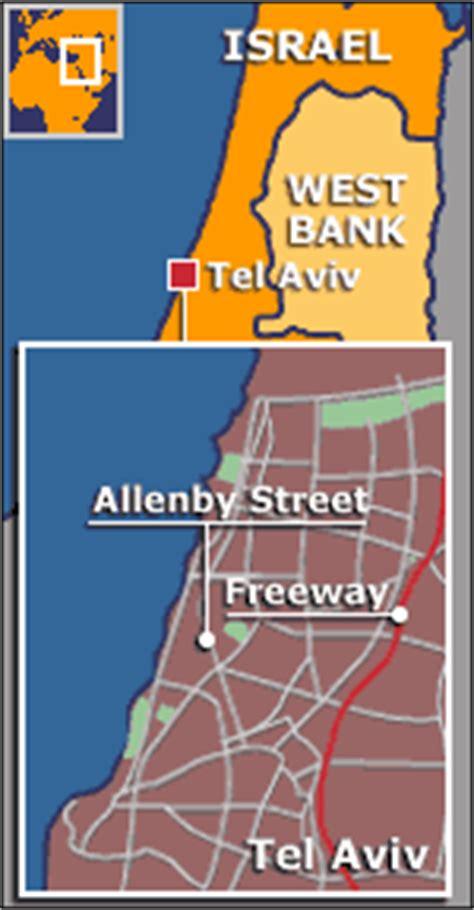 middle east map tel aviv news world middle east fatal blast rocks tel