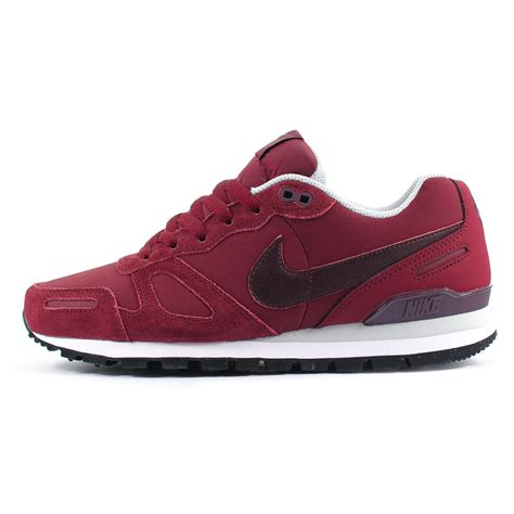 mens nike air waffle trainer leather burgundyplatinum