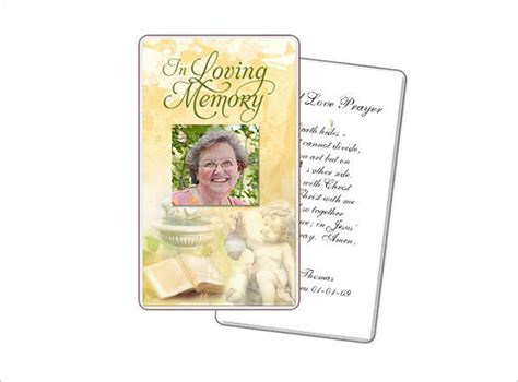 obituary card templates download free premium