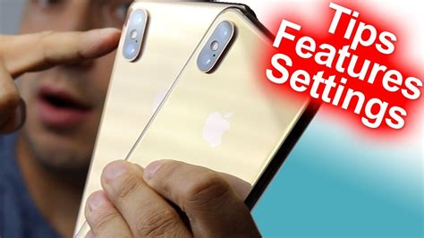 how to use the iphone xs xs max tutorial settings