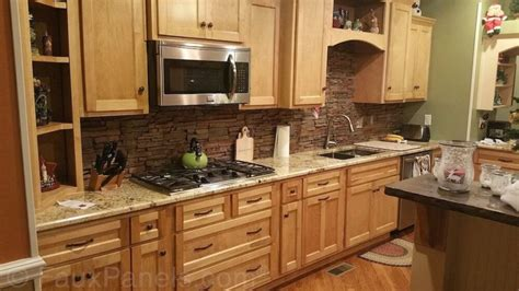 faux kitchen backsplash 30 faux brick and rock panel ideas pictures