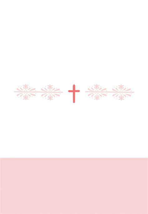 christening place cards template pink cross free printable baptism christening