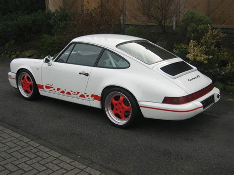 porsche 911 modified porsche 911 rs 964 white modified rear revival