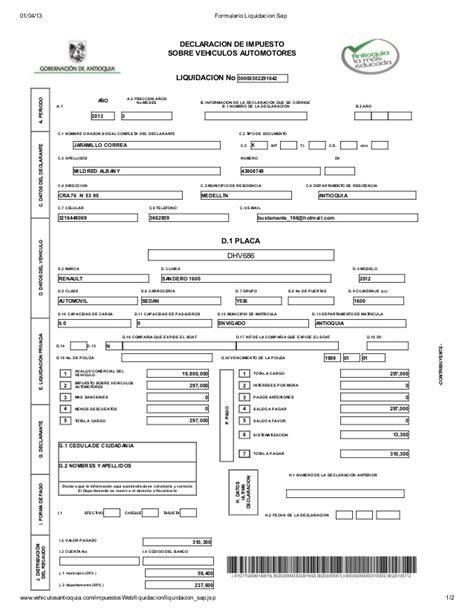 descargar formulario pago impuesto vehiculos 2016 bogota impuestos vehiculos cali impuestos de vehiculos cali