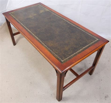 Coffee Table Leather Top Georgian Style Leather Top Coffee Table