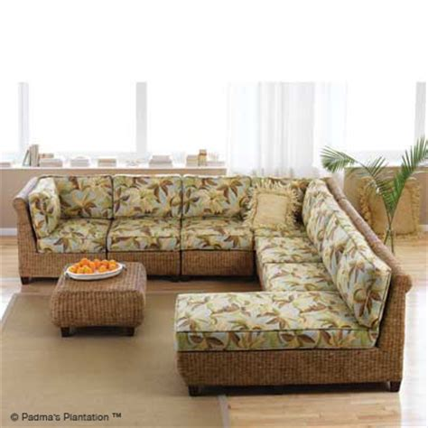 tropical couch the hawaiian home blog tropical sofa sectional