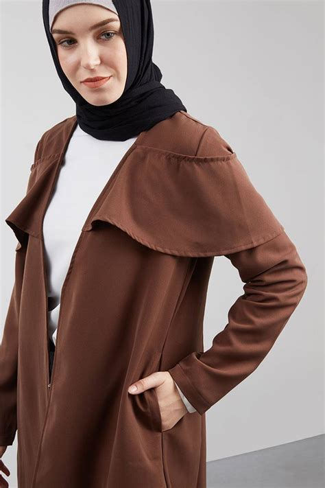 Outerwear Pakaian Wanita Muslim Yumma Outer sell rovina outer brown outerwear hijabenka