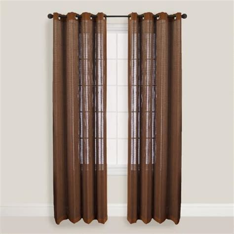 How To Use World Market Gift Card Online - walnut bamboo curtains with grommets world market