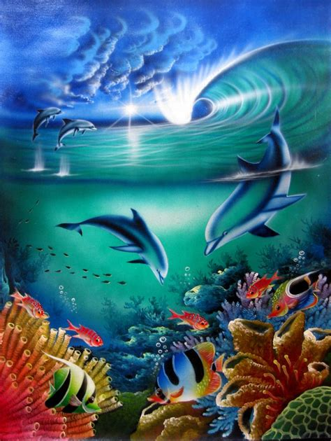 Sprei Sea Dolphine seascapes gallery for sale