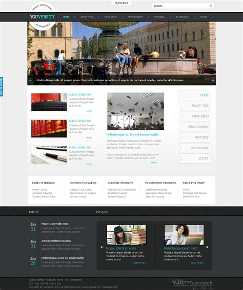 themes education joomla youversity premium joomla 1 6 education template from