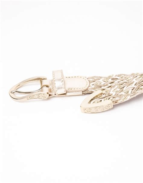 beige braided leather belt accessories roberto verino