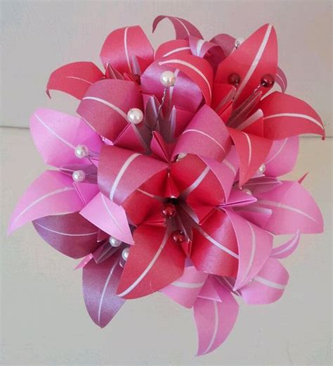 Origami Lilies - paper flower origami s day by