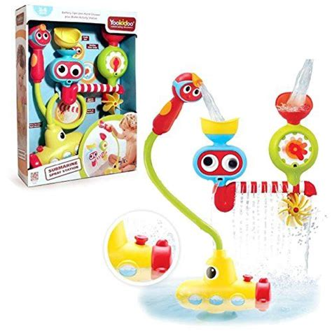 bathtub submarine toy bath toy submarine spray station battery operated water pump with hand shower and