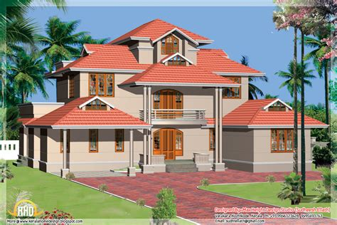 kerala house designs and plans kerala style beautiful 3d home designs kerala home design and floor plans