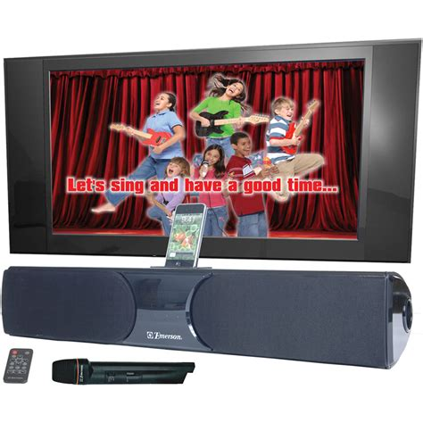 emerson karaoke home theater speakers with ipod dock and