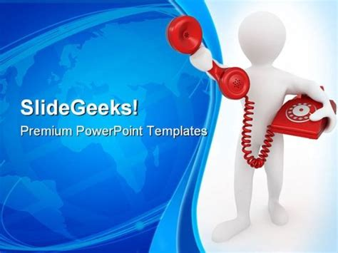 powerpoint templates free communication telephone receiver communication powerpoint templates and