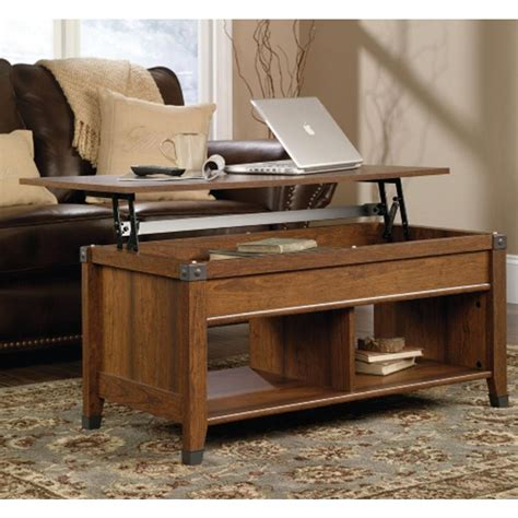 sauder coffee table assembly sauder carson forge collection washington cherry rectangle