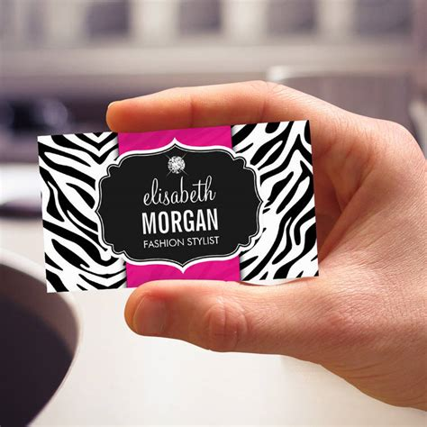 zebra card studio templates chic makeup artist business card template