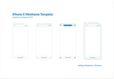 iphone x wireframe with ios 11 guides free sketch