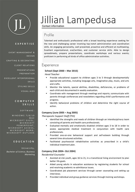 Exle Resume Creative Person resume sles and writing guide 10 exles resumeyard
