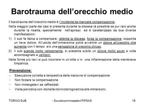 barotrauma orecchio interno appunti di teoria le slide sono disponibili sul sito ppt