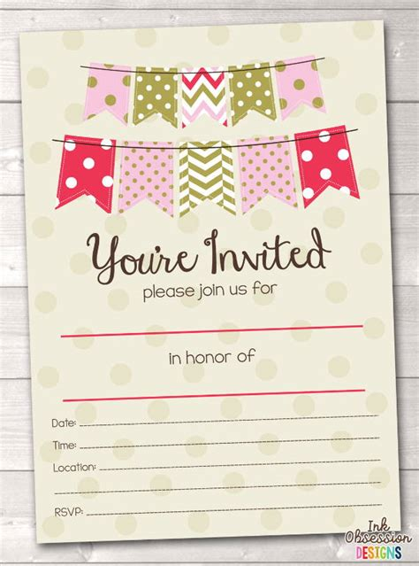7 Blank Party Invitations Free Editable Psd Ai Vector Eps Format Download Free Premium Blank Birthday Invitation Template