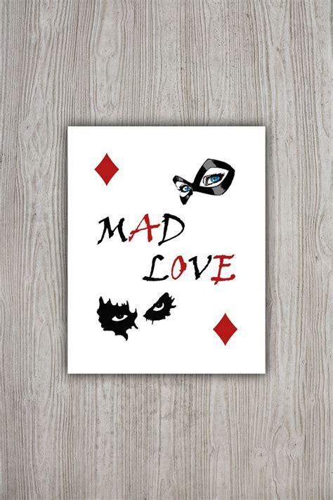 mad love tattoo harley quinn poster dc comics batman poster mad