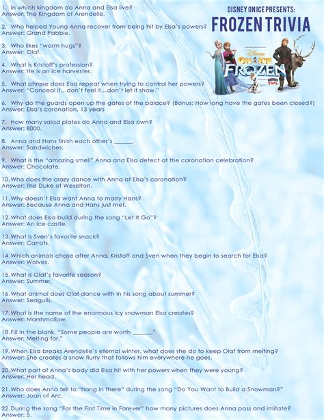 printable music quiz 2014 free frozen trivia questions and frozen coloring sheet