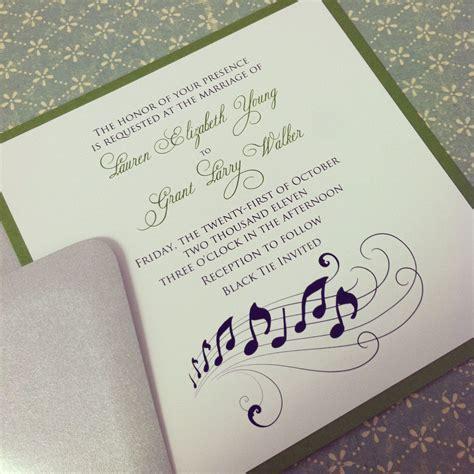 "Music Note Romantic Wedding Invitation Suite   ""The Grant"
