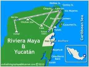 Riviera Maya Mexico Map by Fun Facts Janet S Mayan Riviera