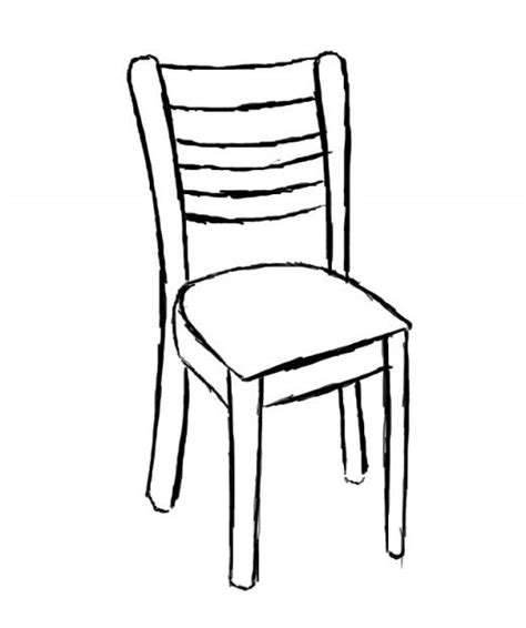 stuhl zeichnung how to draw a chair feltmagnet